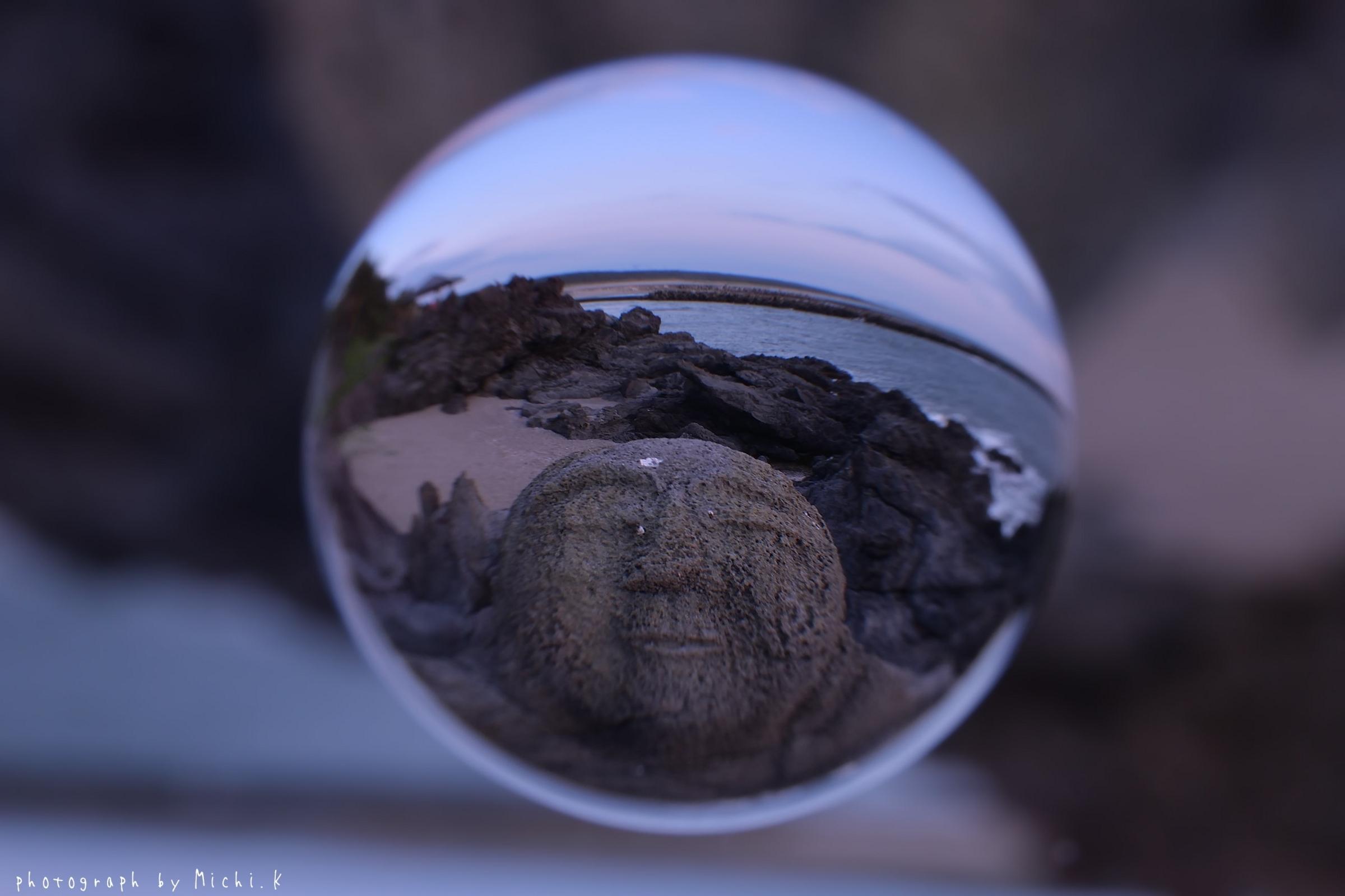 山形県遊佐町、十六羅漢にて~宙玉(そらたま)その6
