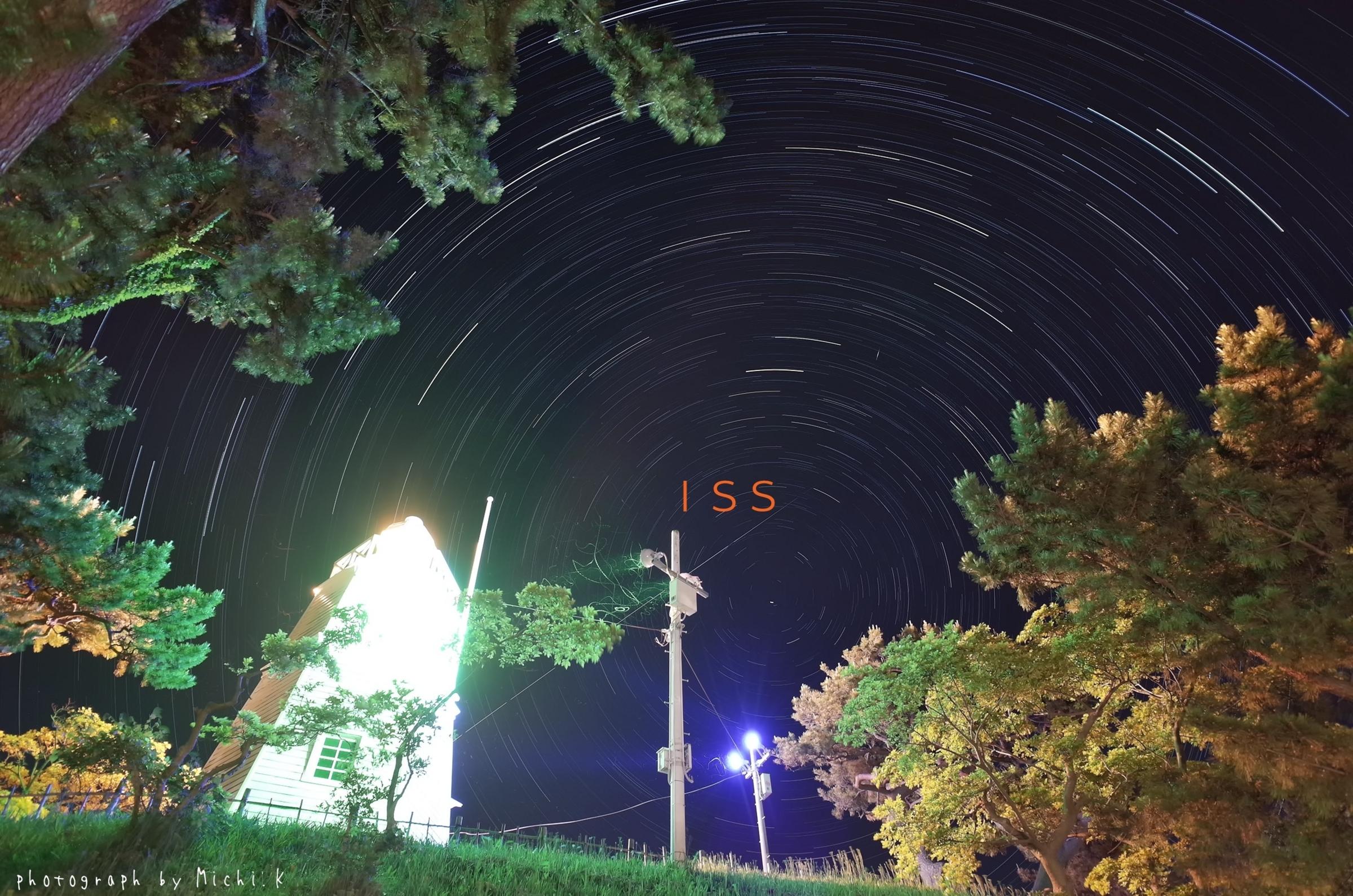 国際宇宙ステーション(ISS)の軌跡 2018年6月3日