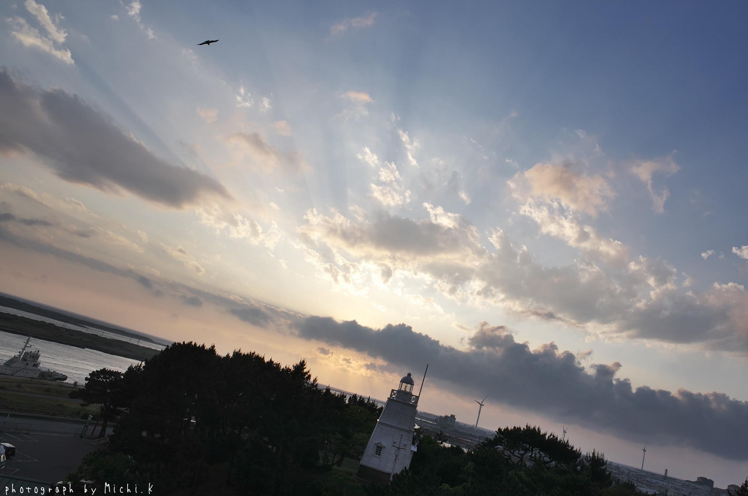2018年夏至の日の日和山六角灯台(その1)