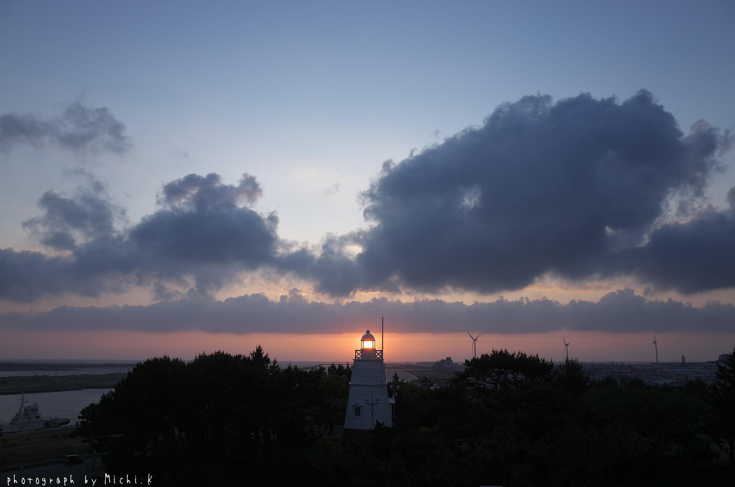 2018年夏至の日の日和山六角灯台(その4)