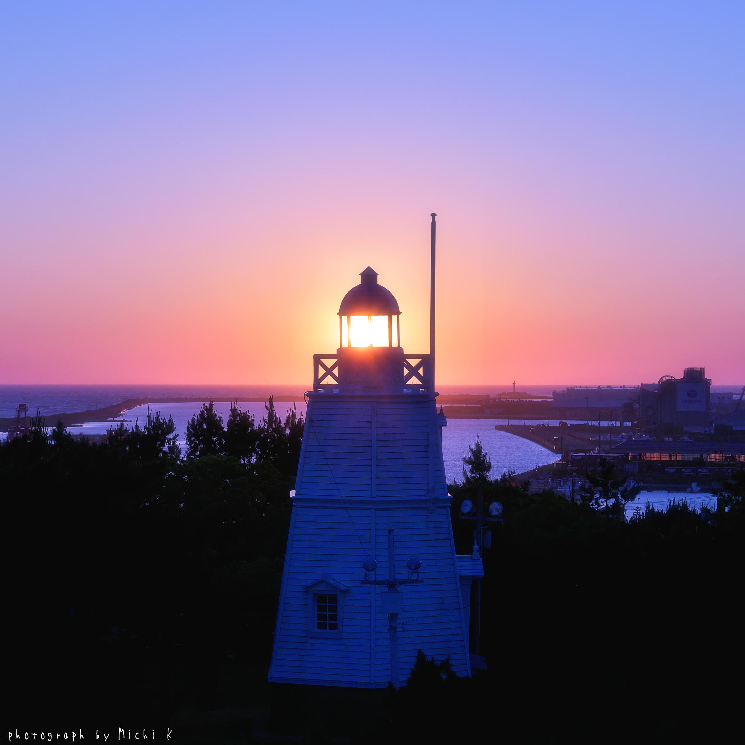 酒田市・日和山六角灯台の写真