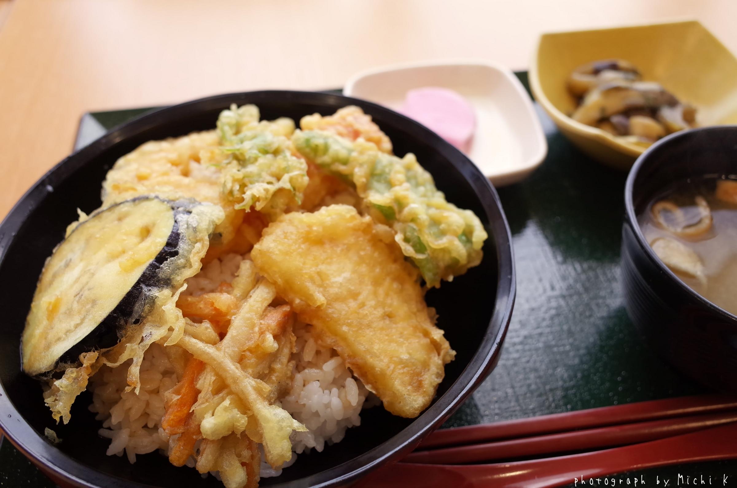 道の駅しょうないの野菜天丼(写真その2)