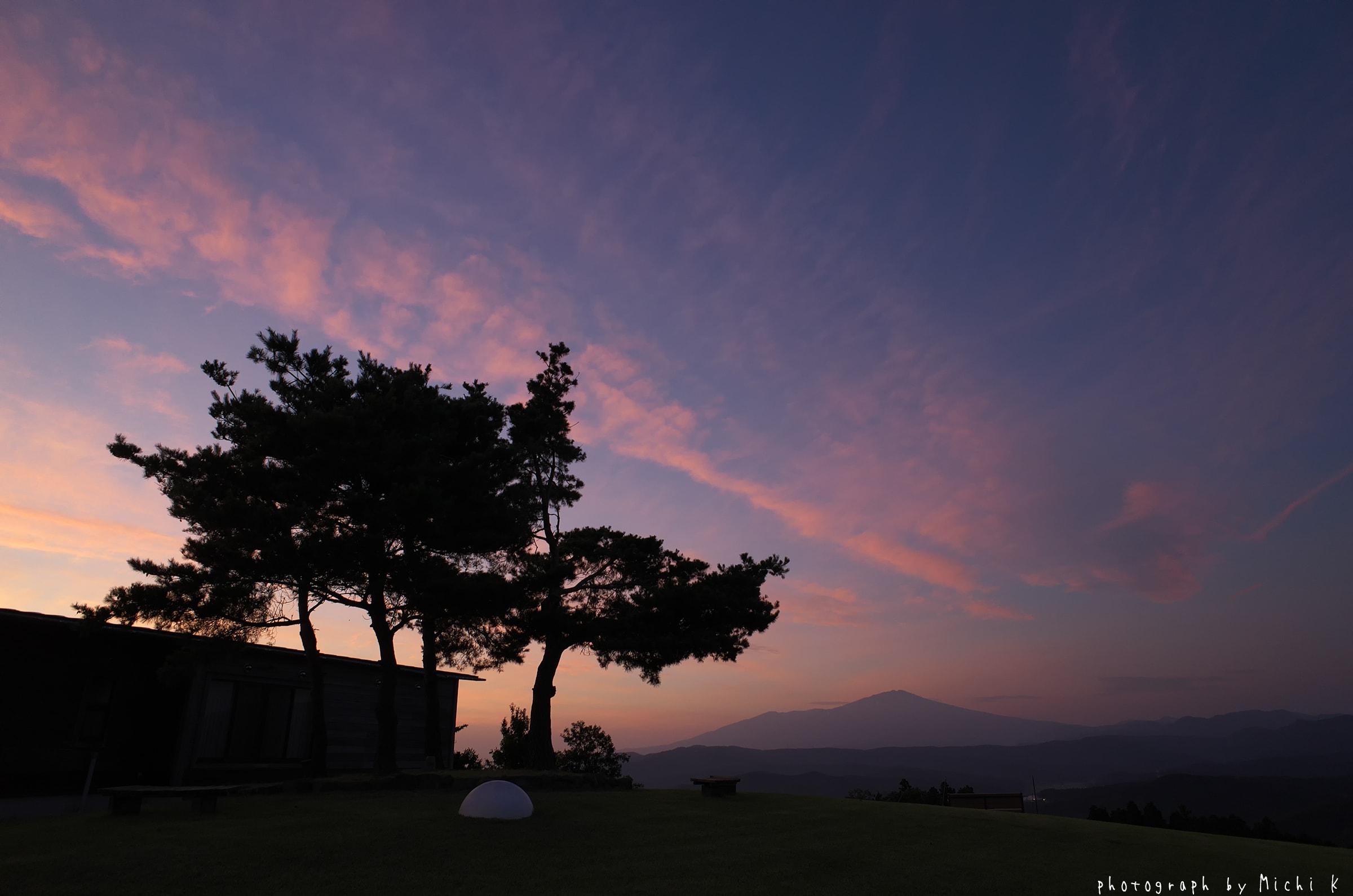 酒田市,、眺海の森天体観測館近くで見た夕焼け(写真その3)