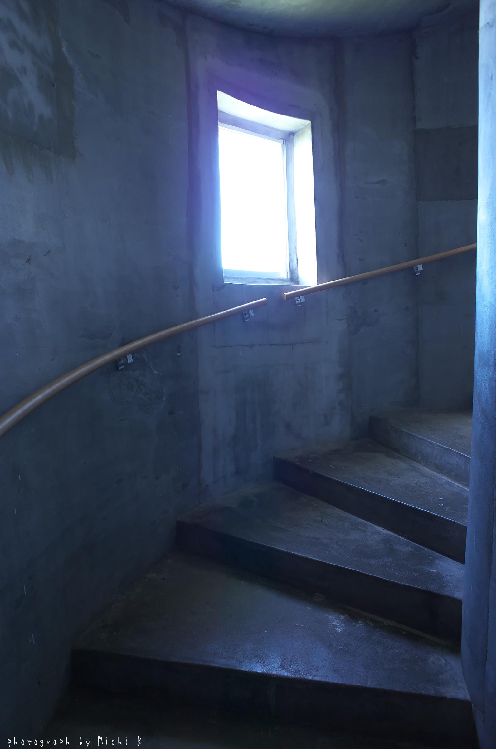 入道埼灯台内部の螺旋