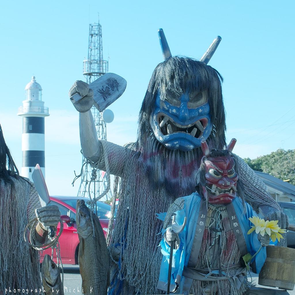入道埼灯台と「なまはげ」