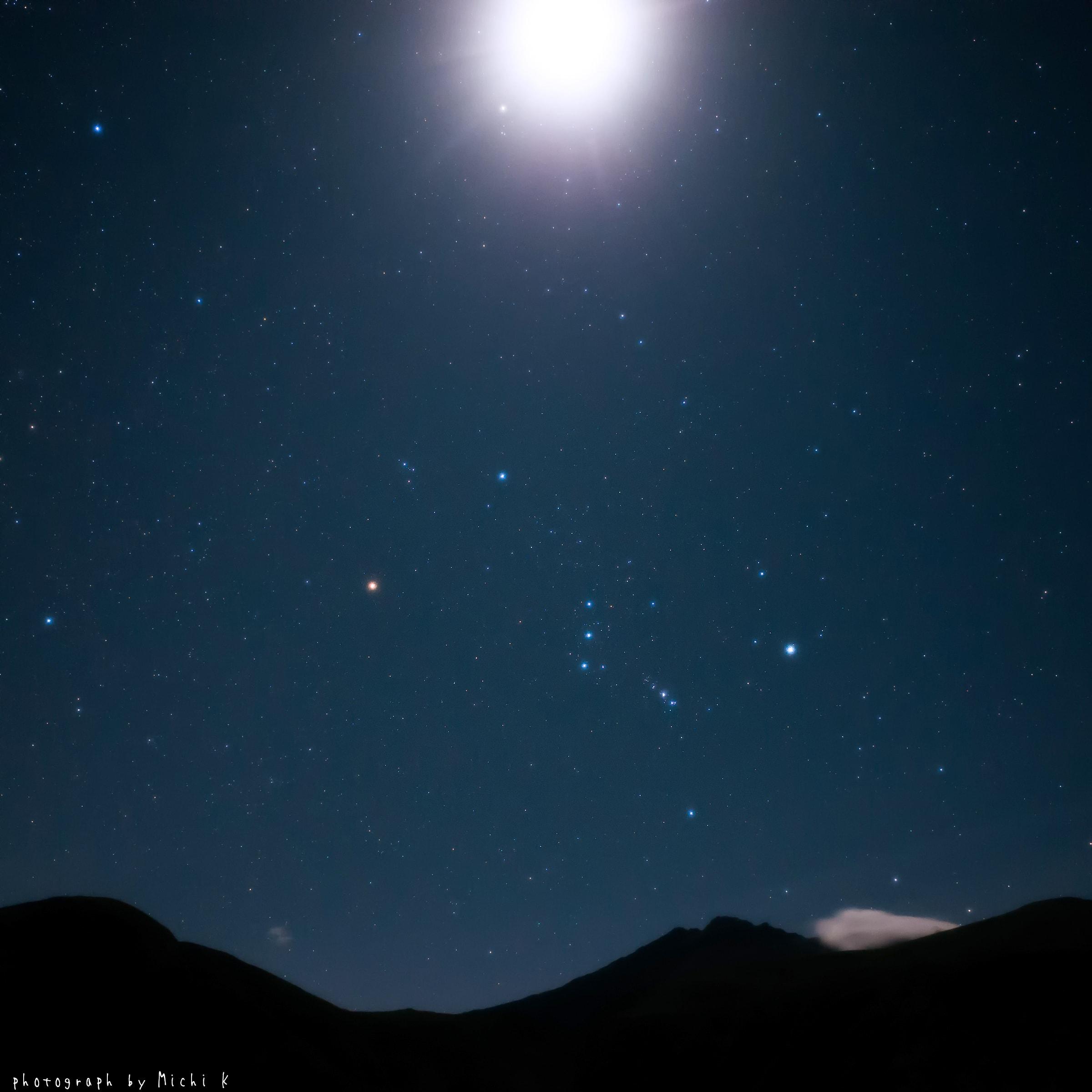 9月に撮ったオリオン座。鳥海山、鉾立展望台にて撮影