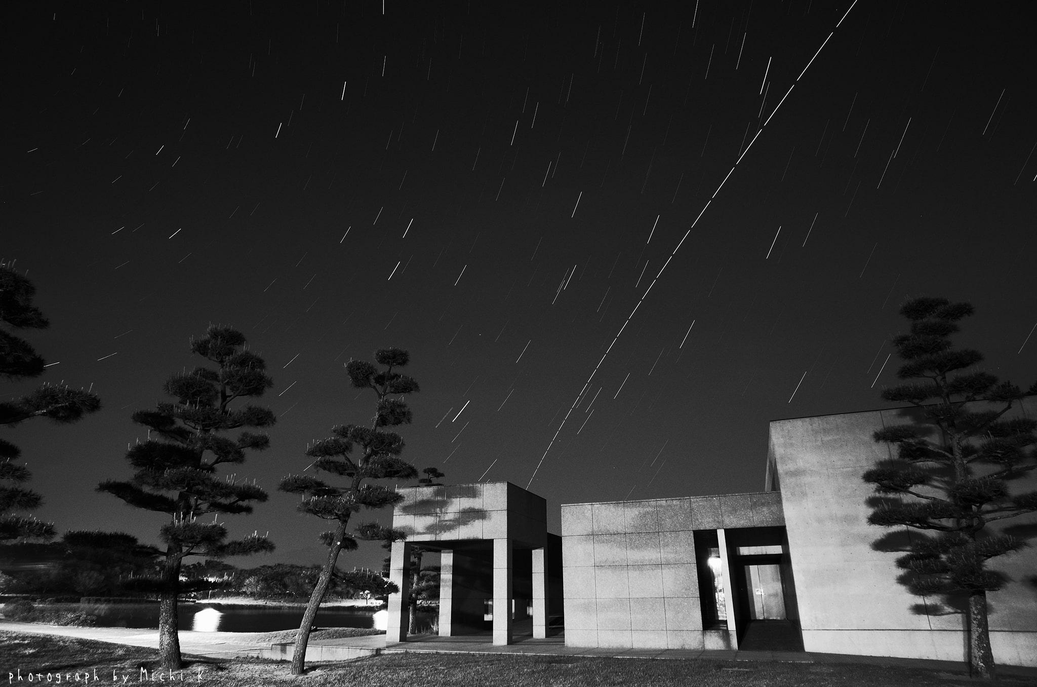 「きぼう」の軌跡 2019年5月19日-モノクロ