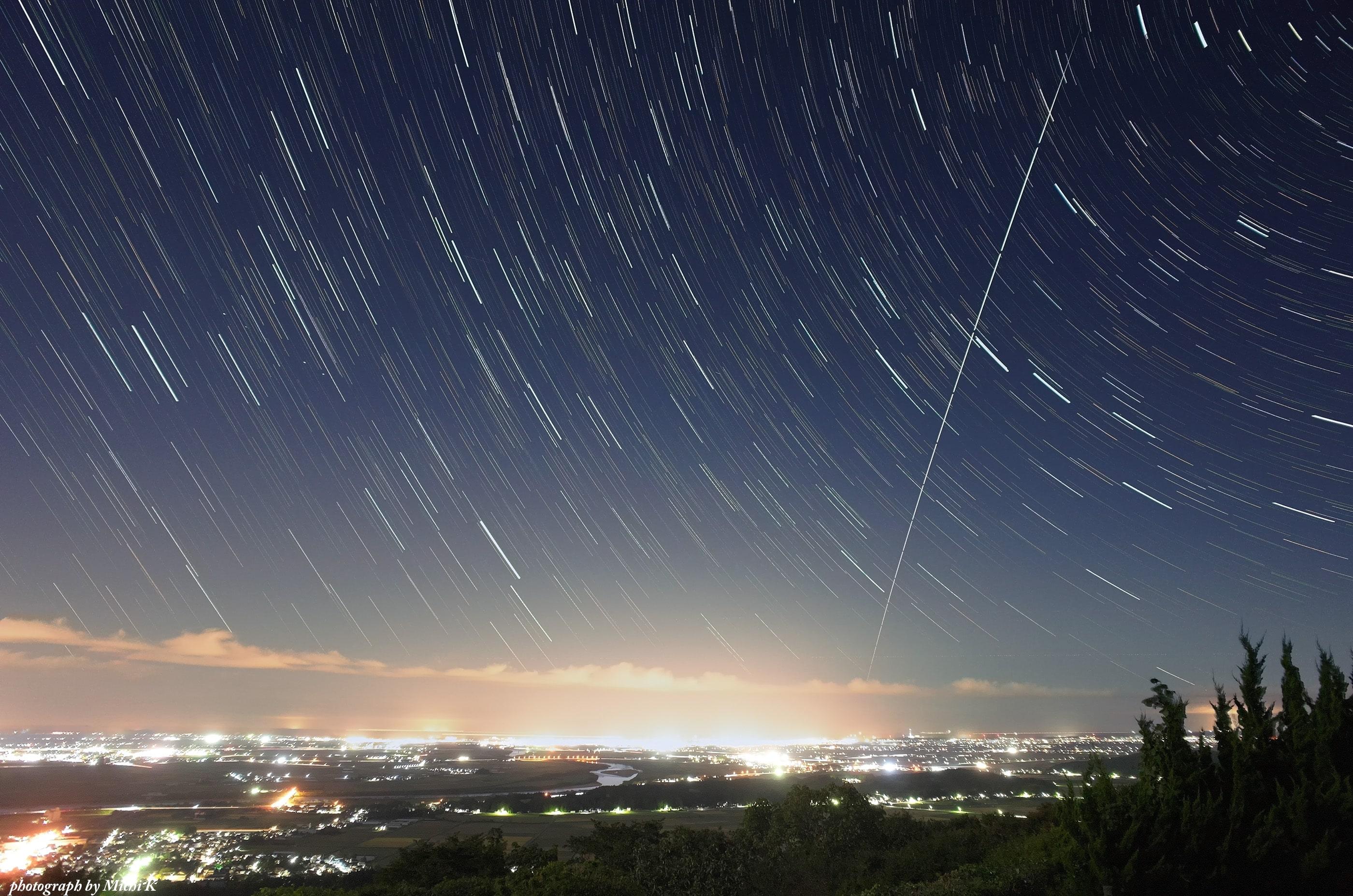 写真、「きぼう」の軌跡2019年10月6日
