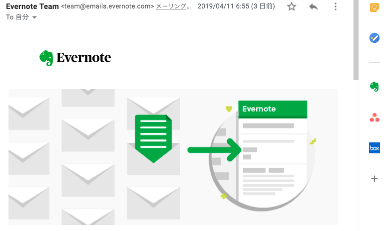 Evernote for Gmail アドオン