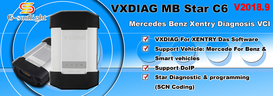 VXDIAG MB SD Connect C6 Benz Diagnostic Tool MB Star C6