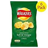1パック歩行塩&酢のポテトチップス25グラム×6 - Walkers Salt & Vinegar Crisps 25g x 6 per pack [並行輸入品]