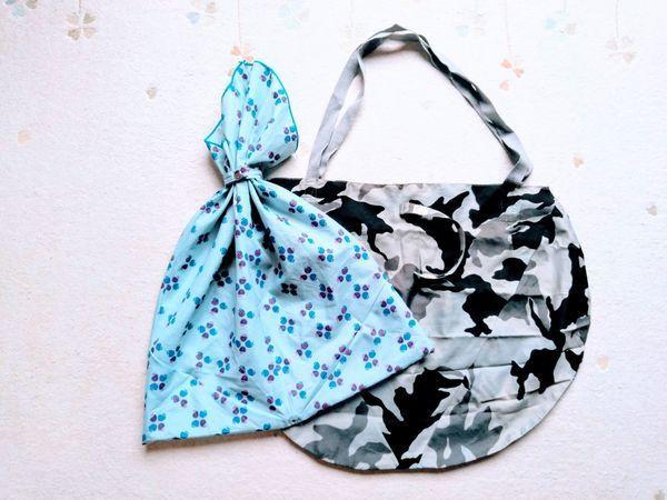 傘の布を使った自作のバッグ