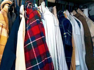 クローゼットの服