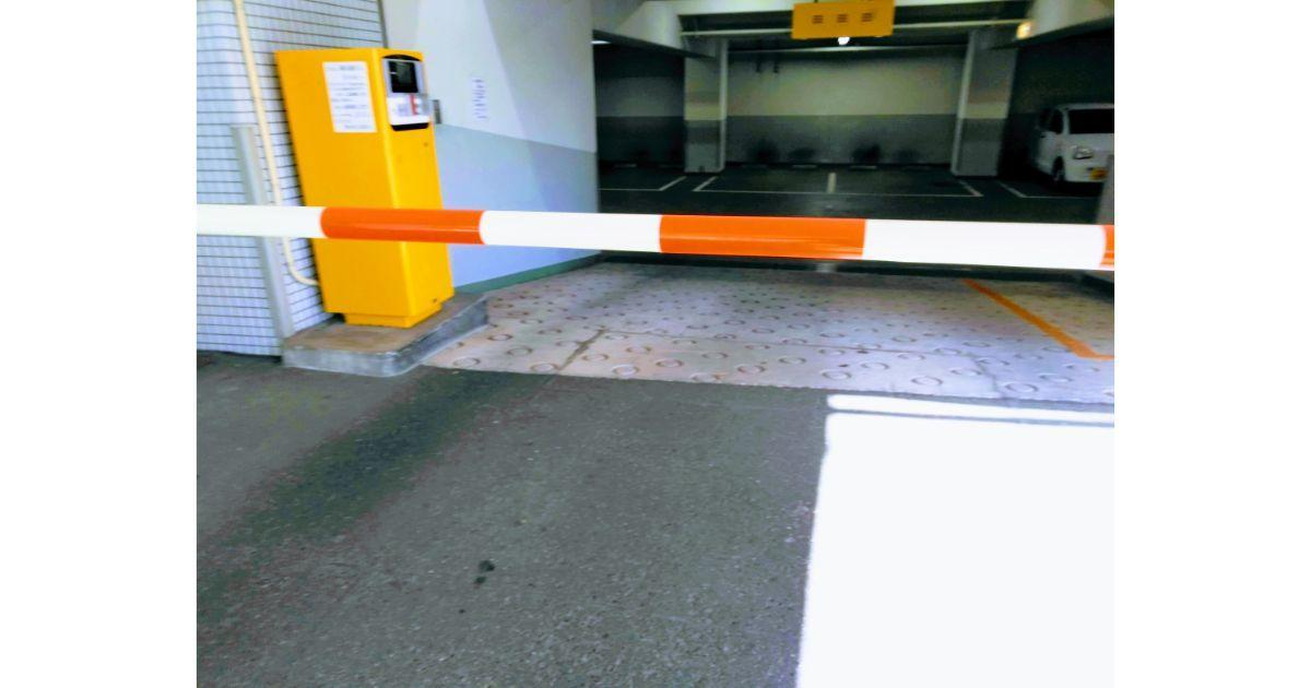 コインパーキングのゲートバー設備