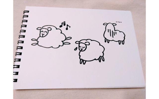 それぞれ迷う羊のイメージイラスト