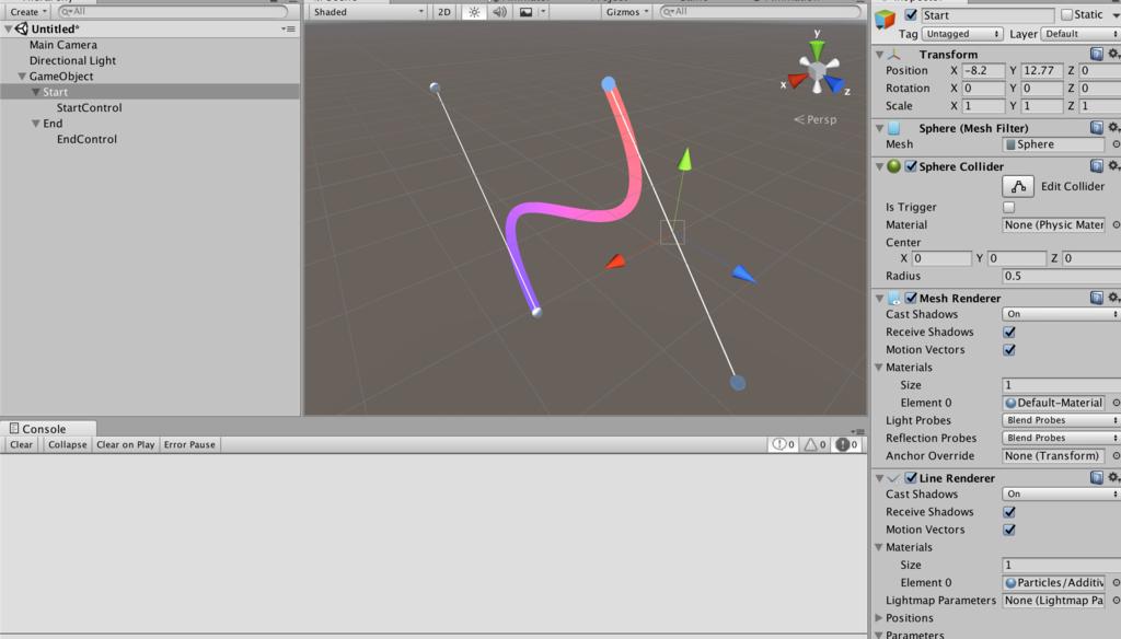 Unity】3次ベジェ曲線を描いてくれるスクリプトを書いた - ぼくの日記