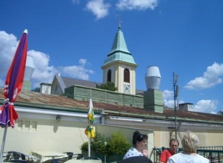 展望カフェからカーレンベルク教会の塔