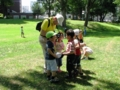 園児と交流オジイサン