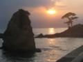 秋谷の立石夕景