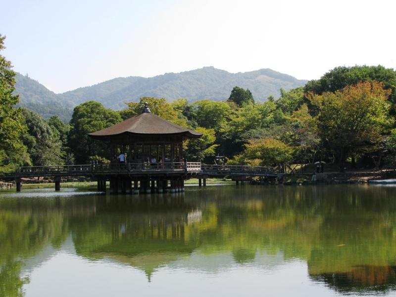 鷺池と高円山