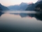 フィアヴァルトシュテッター湖 朝焼け