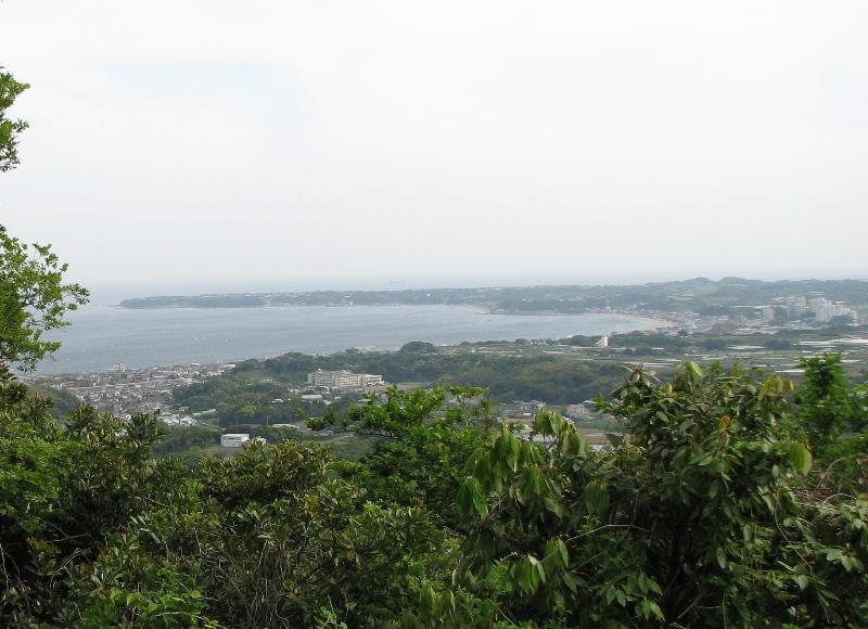 見晴台から三浦海岸方面