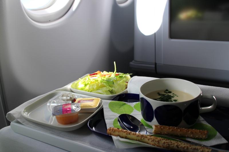 フィンランド航空 夕食