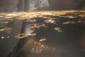機内からプラハの灯り