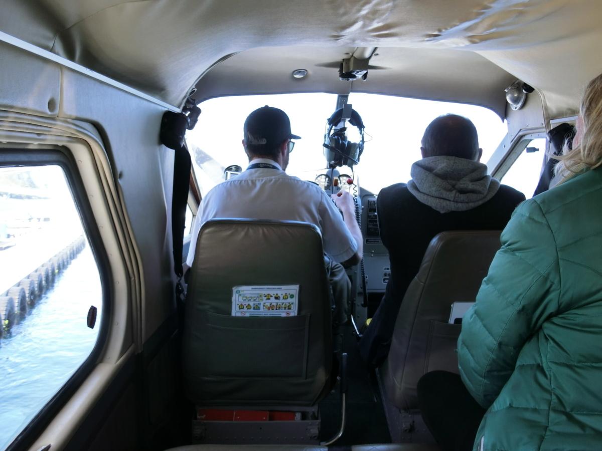 水上飛行機の機内