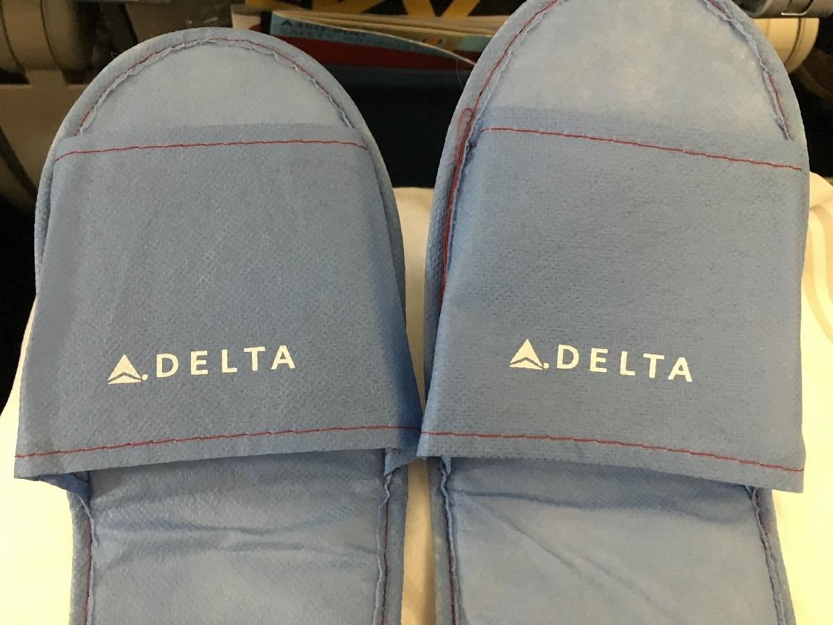 デルタ航空のスリッパ