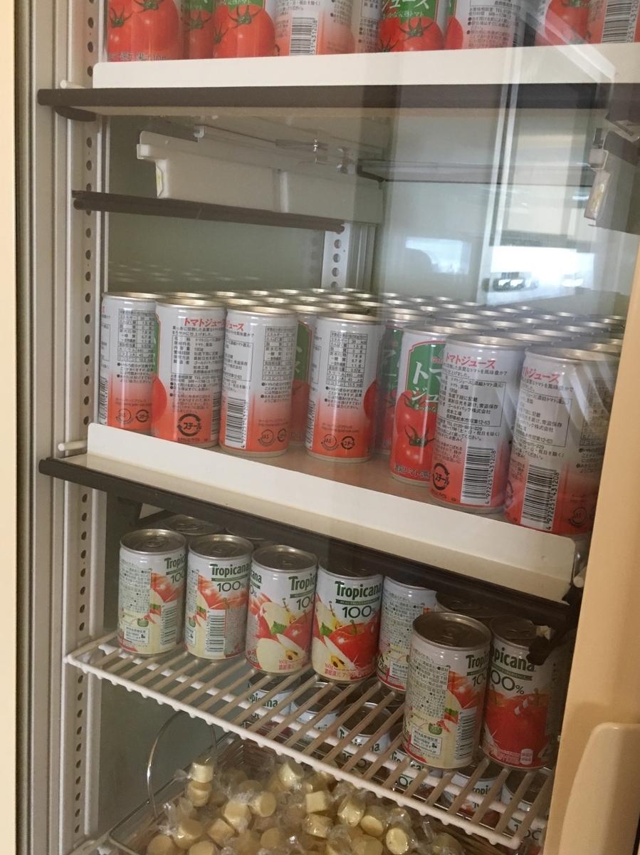 大韓航空ラウンジの冷蔵庫の中は・・・