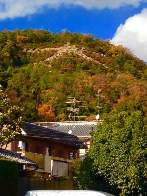 画像の配置 大文字山の風景写真です