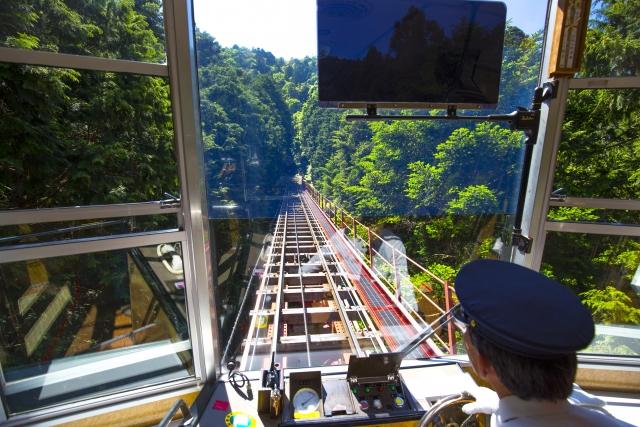 画像の配置 比叡山ケーブルカーからの景色の写真です