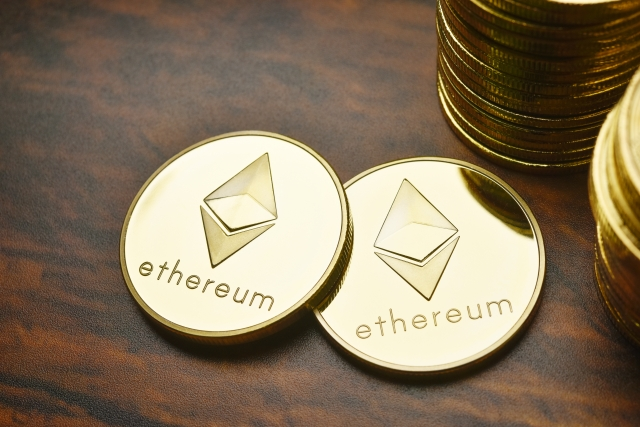 画像の配置 仮想通貨イーサリアムの写真