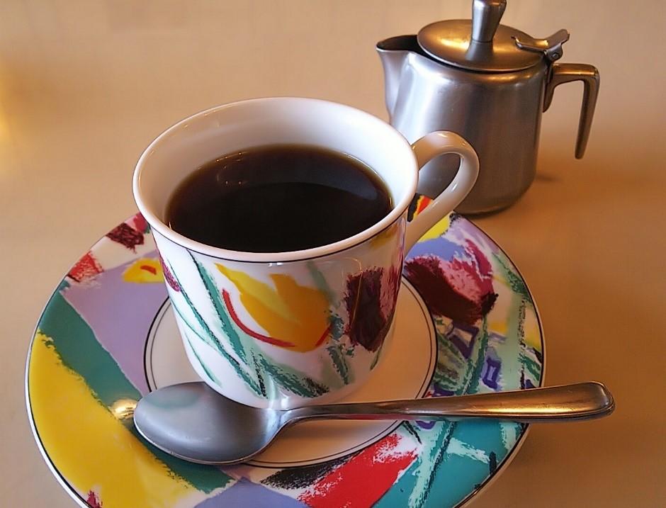 喫茶マスミのランチセットで出てきたコーヒー
