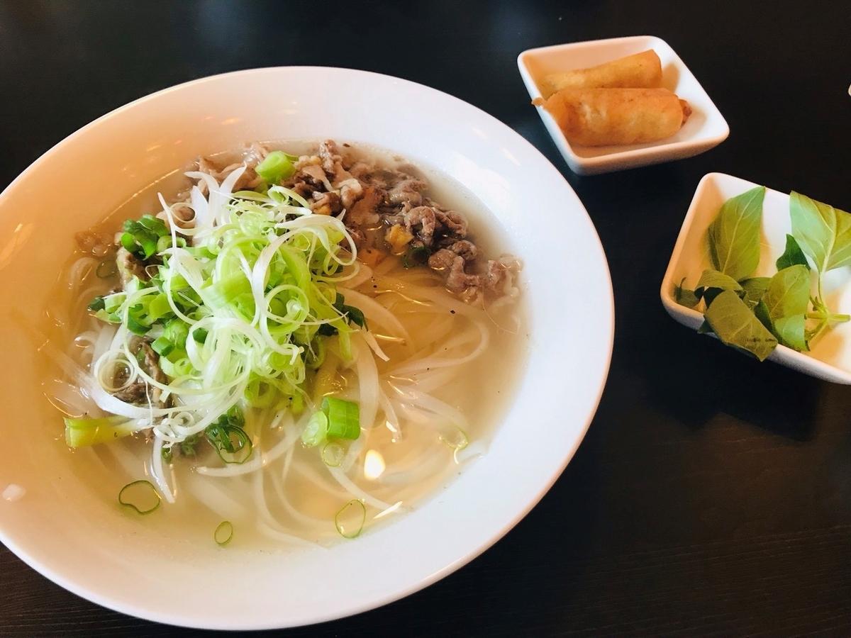 PHO CO SAI HAI GON(フォーコハイサイゴン)の牛肉フォー揚げ春巻きセット
