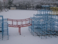 雪のジャングルジム