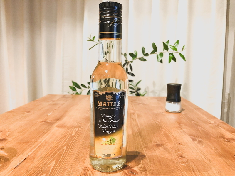 白ワインビネガー & 塩