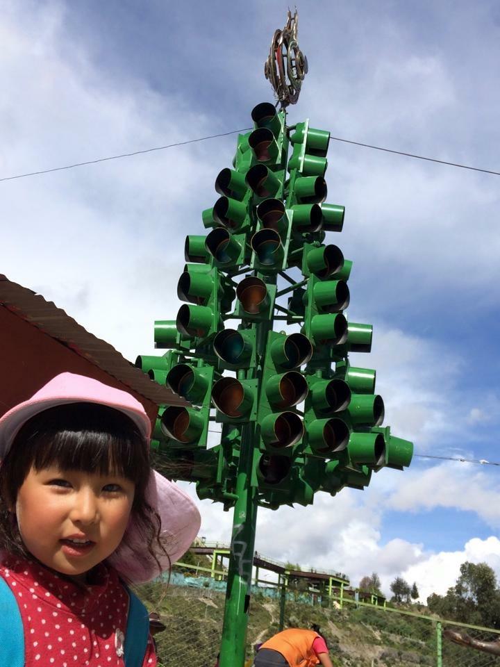 信号機クリスマスツリー