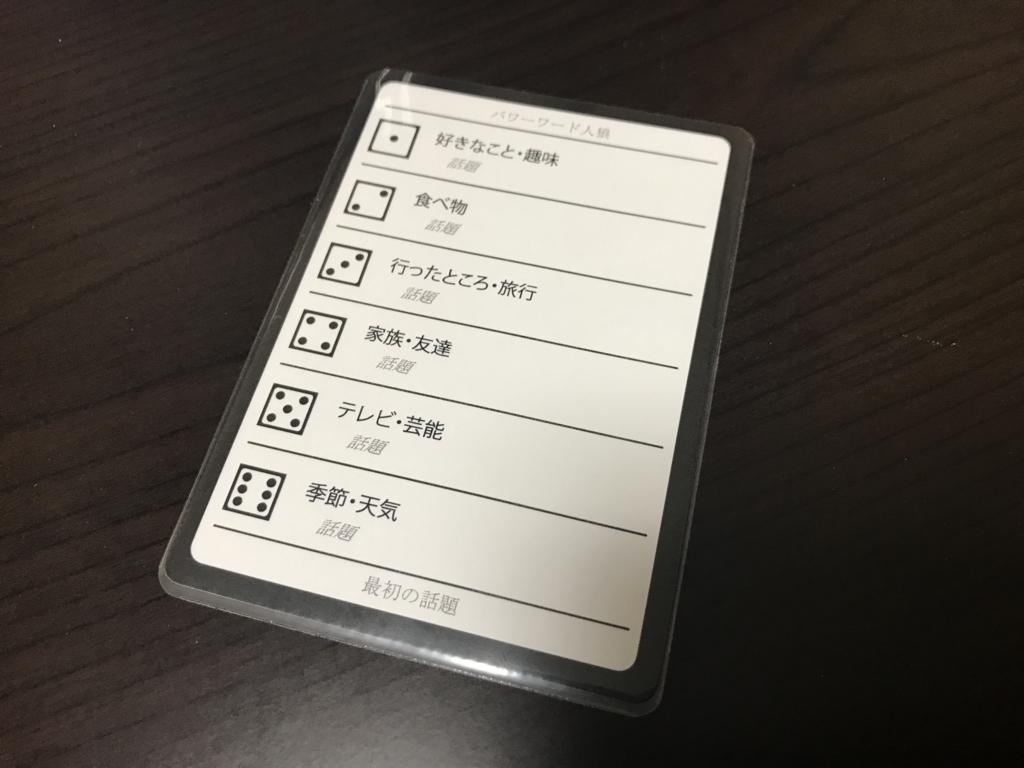 最初の話題カード