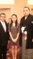 (左から)式守伊之助さん 村田美夏 鶴竜力三郎関