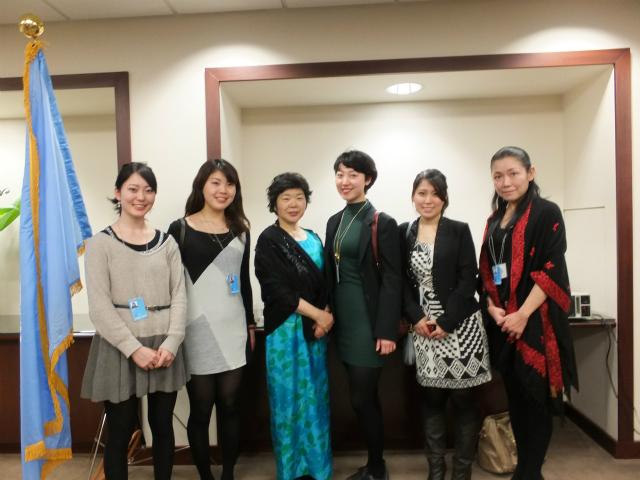橋本ヒロ子さん、村田美夏 (ニューヨーク 国連会議)