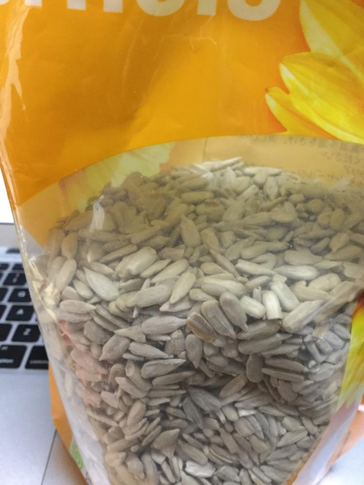 写真:オレンジ色の袋の半分ぐらいまだ残っている