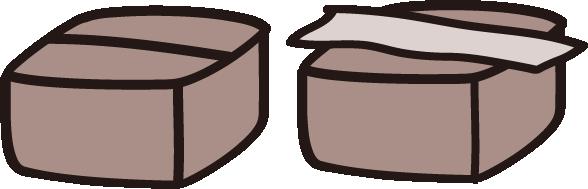段ボールの箱の絵