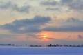 『京都新聞写真コンテスト 早朝の雪もや』
