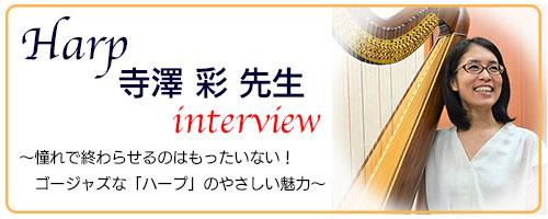 ハープ寺澤講師インタビュー