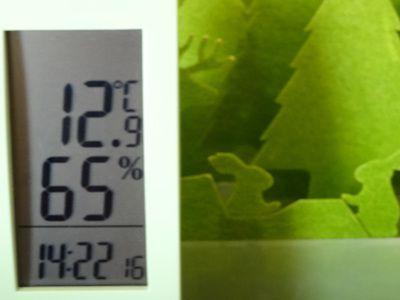 ペーパー加湿器と湿度計