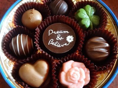 モロゾフのハーティーブルーのチョコレート