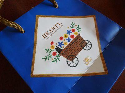 モロゾフのハーティーブルーの紙バッグ