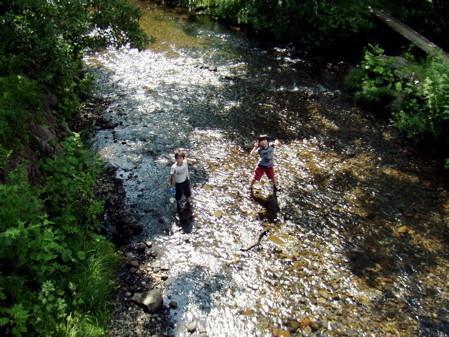 戸隠キャンプ場の川